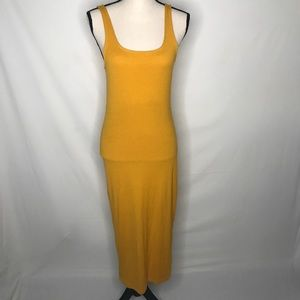 Forever 21 Ribbed Mustard Maxi Dress